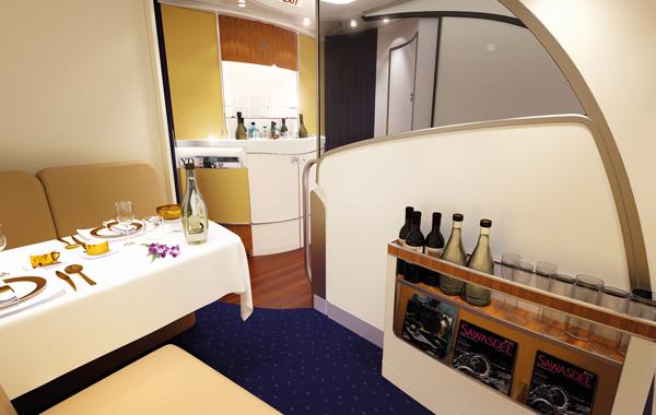 171203 タイ航空A380ロイヤルファーストクラスバーラウンジ