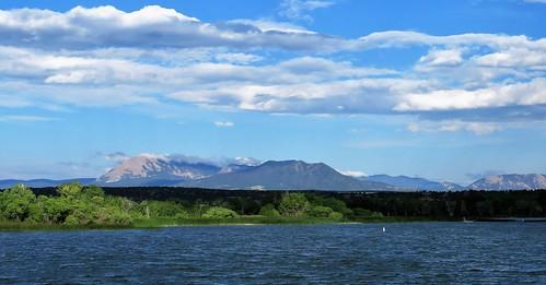 lathropstatepark walsenburgcolorado walsenburg colorado lake mitchell mountain mountains clouds spanishpeaks park coloradoparkswildlife
