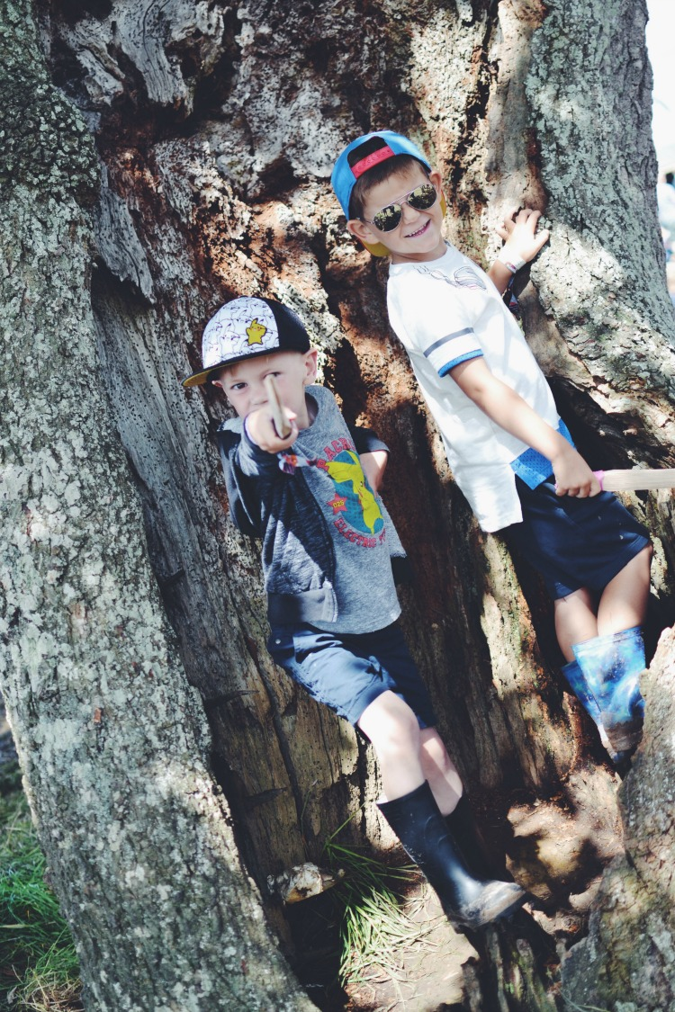 Kids climbing Camp Bestival
