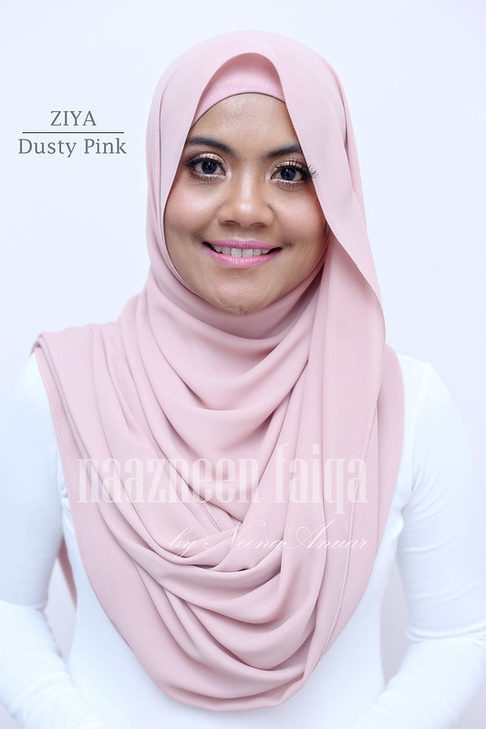 Wide Long Shawl - Ziya (Dusty Pink)