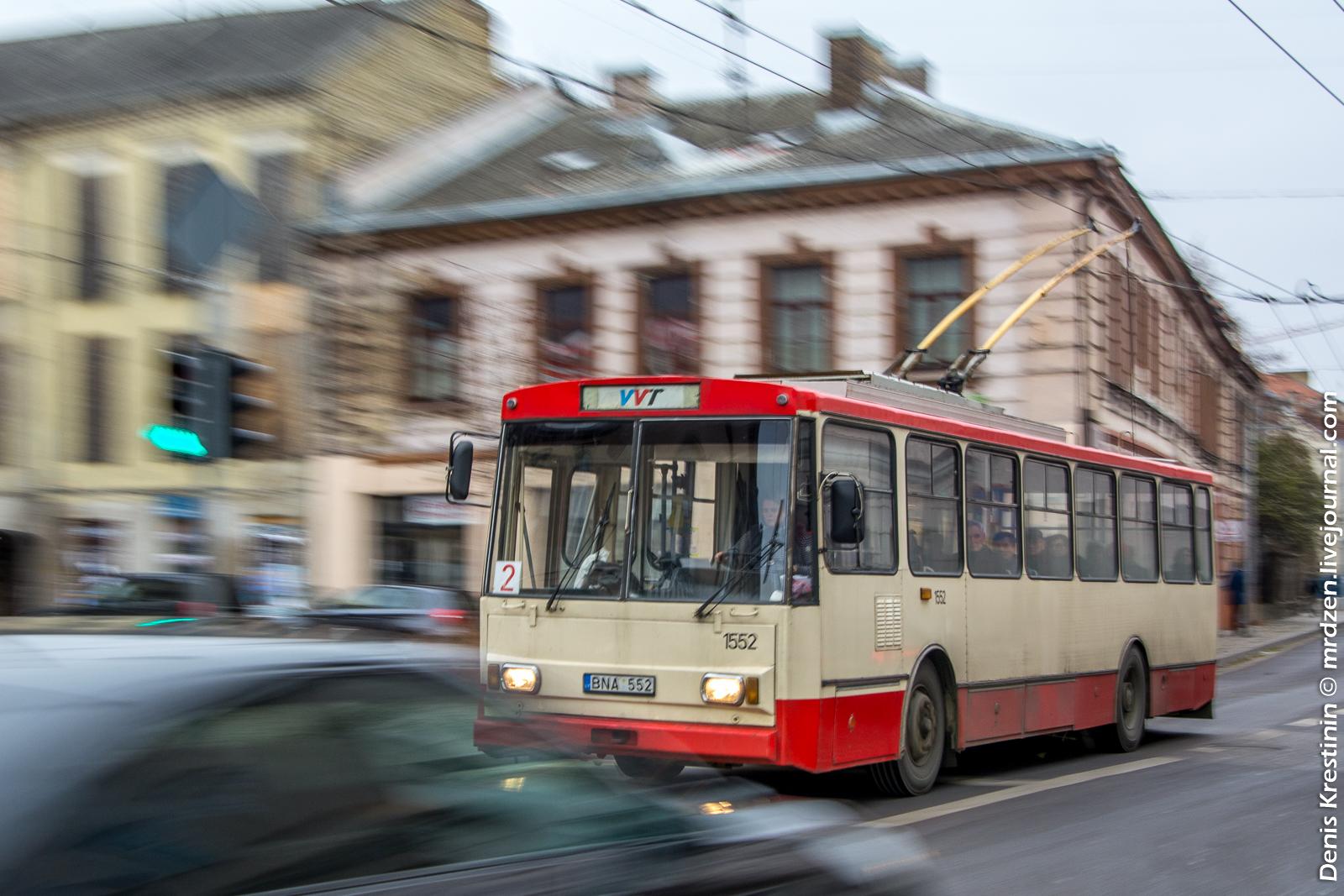 Вильнюс. Троллейбус Skoda 14Tr.