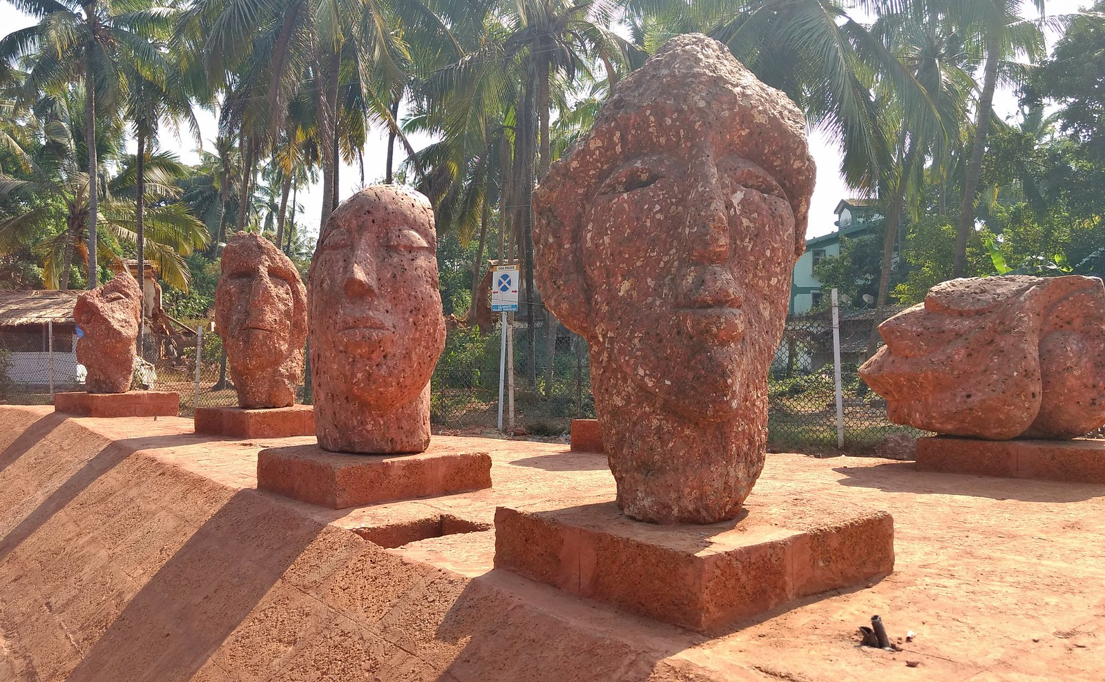 Close up of sculptures
