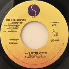 THE PRETENDERS:DON'T GET ME WRONG(LABEL SIDE-A)
