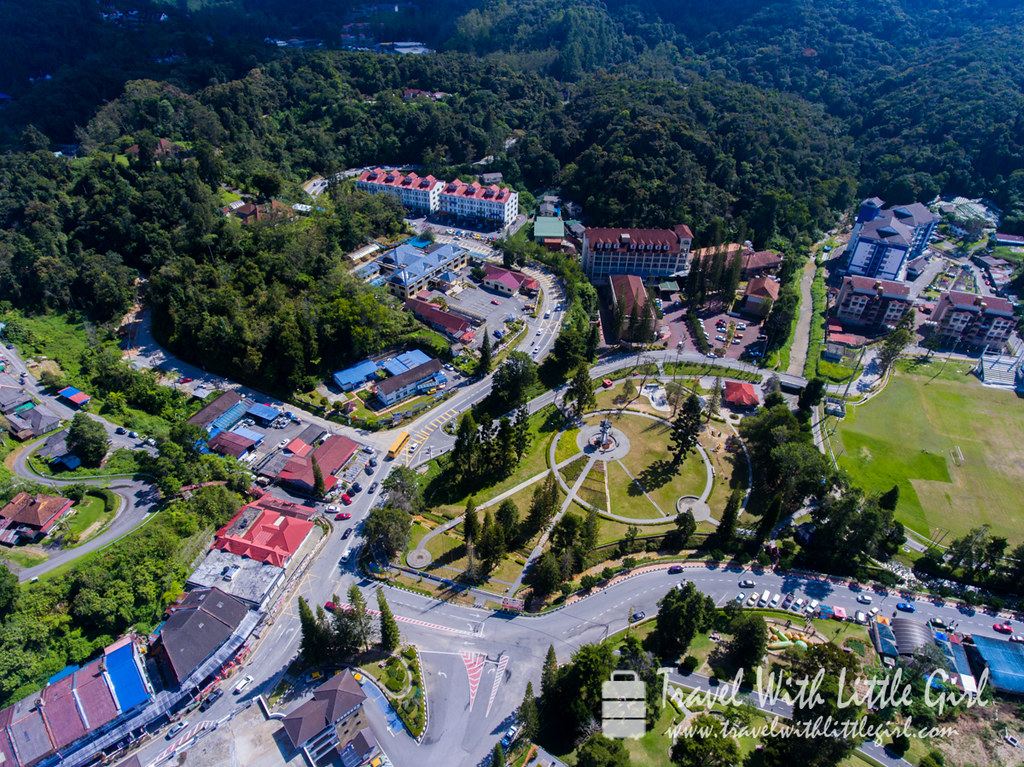 Aerial view of Cameron Highlands