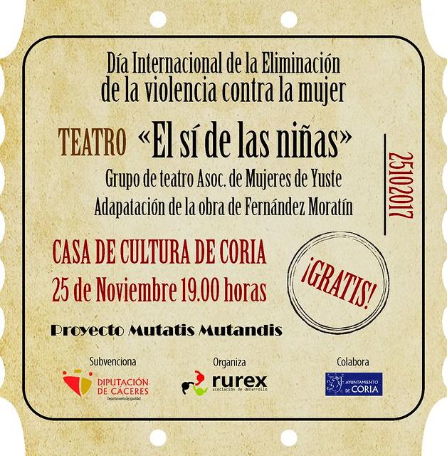 Teatro para celebrar el Día Internacional de la Eliminación de la Violencia contra la Mujer
