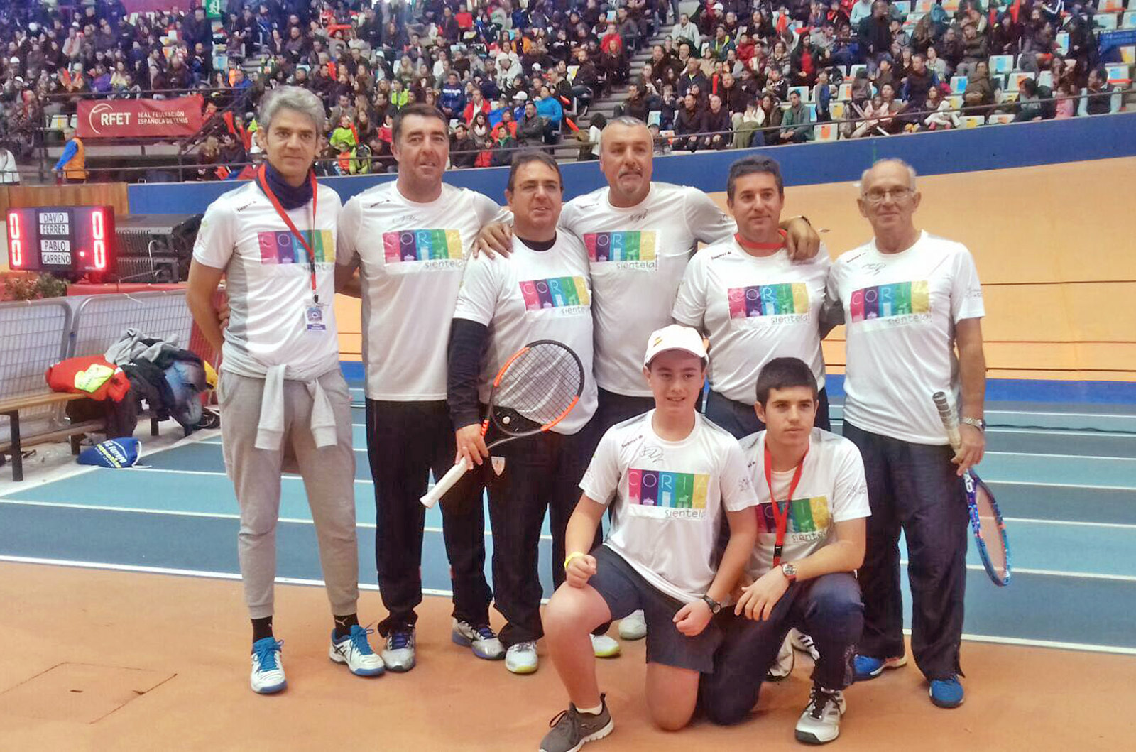 El Club de Tenis Cauria copa con éxito su participación en las finales del circuito de aficionados de la fiesta del tenis español de la RFET celebrada en Valencia