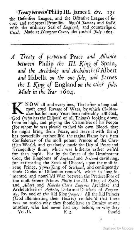Text of the Treaty of Mellifont