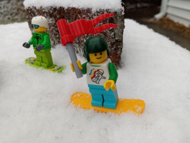 Skiing through the bricks
