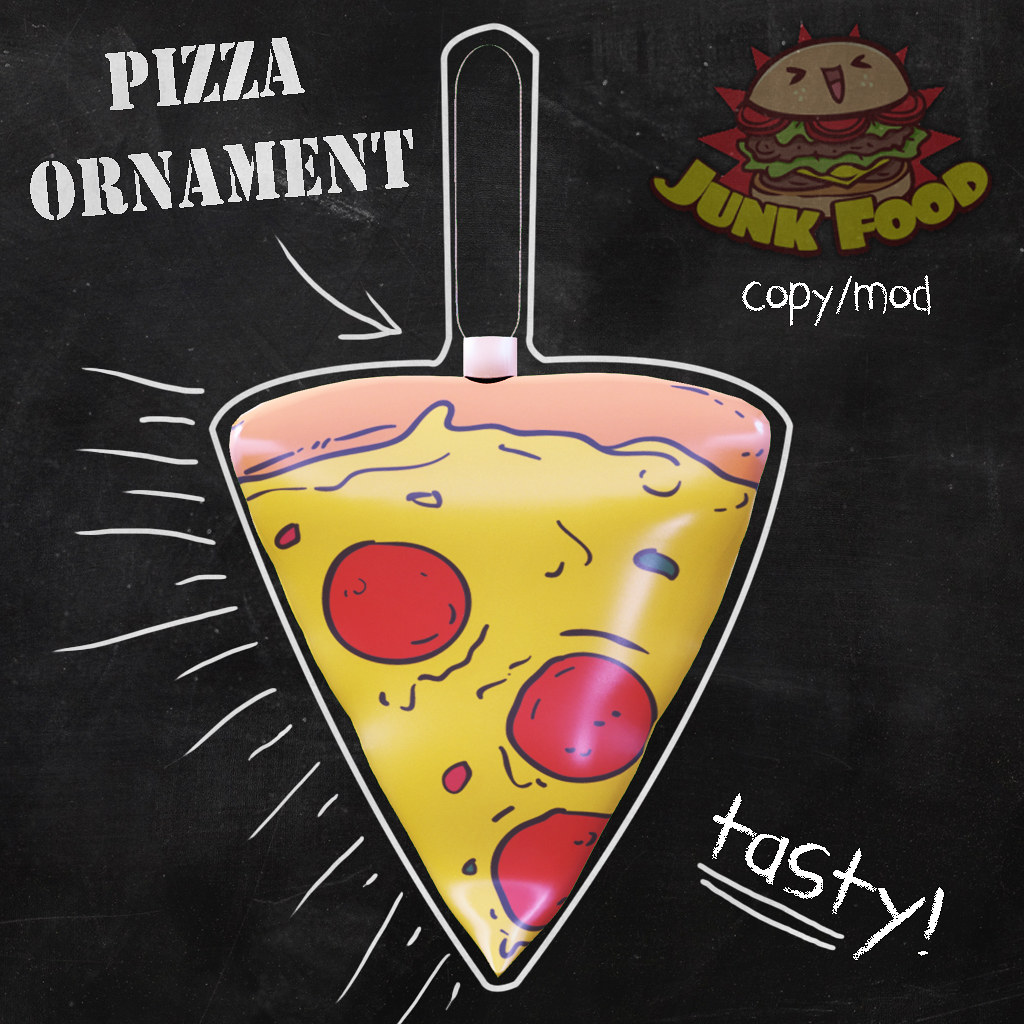 Junk  Food - Pizza Ornament - TeleportHub.com Live!