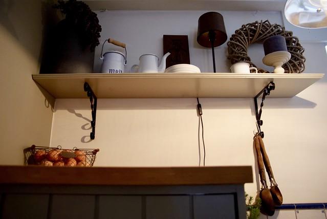 Plank keuken decoratie