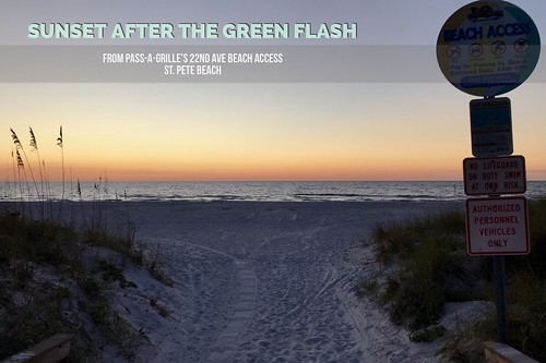 Sunset after the green flash