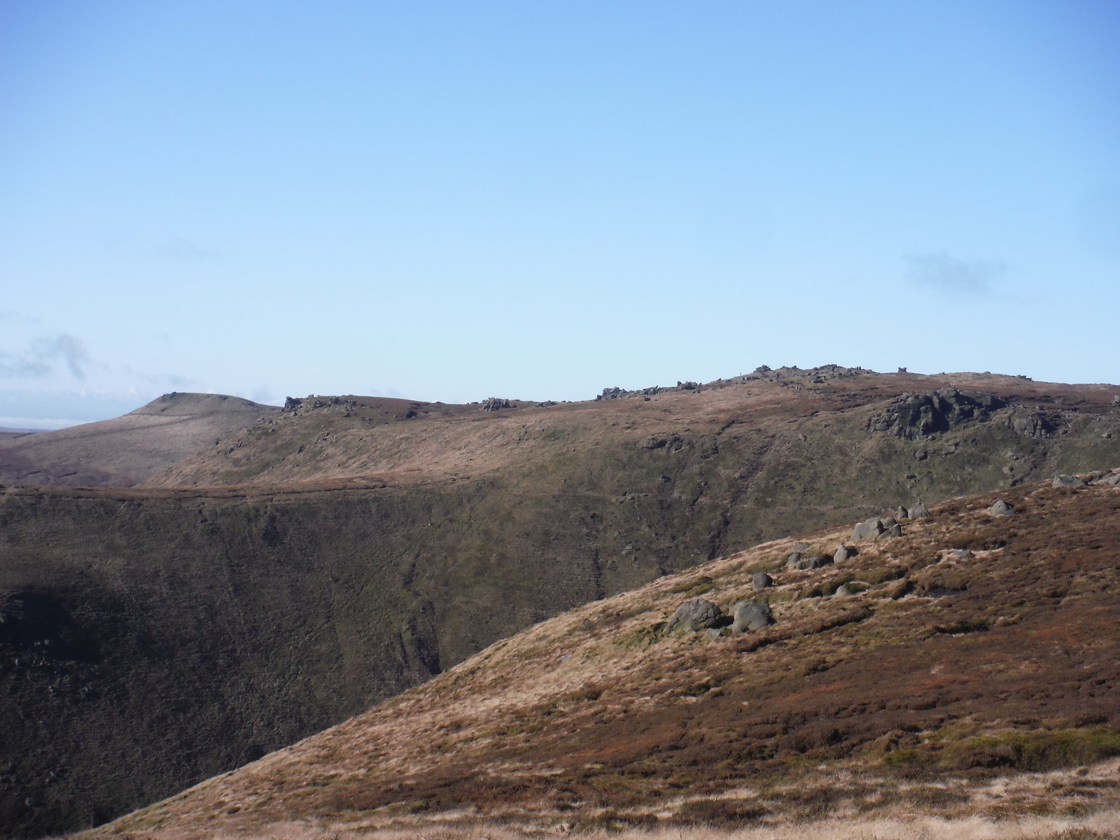 The Edge towards Swine's Back SWC Walk 304 - Kinder Scout Circuit (from Edale)