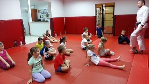 1e ćwiczy jujitsu