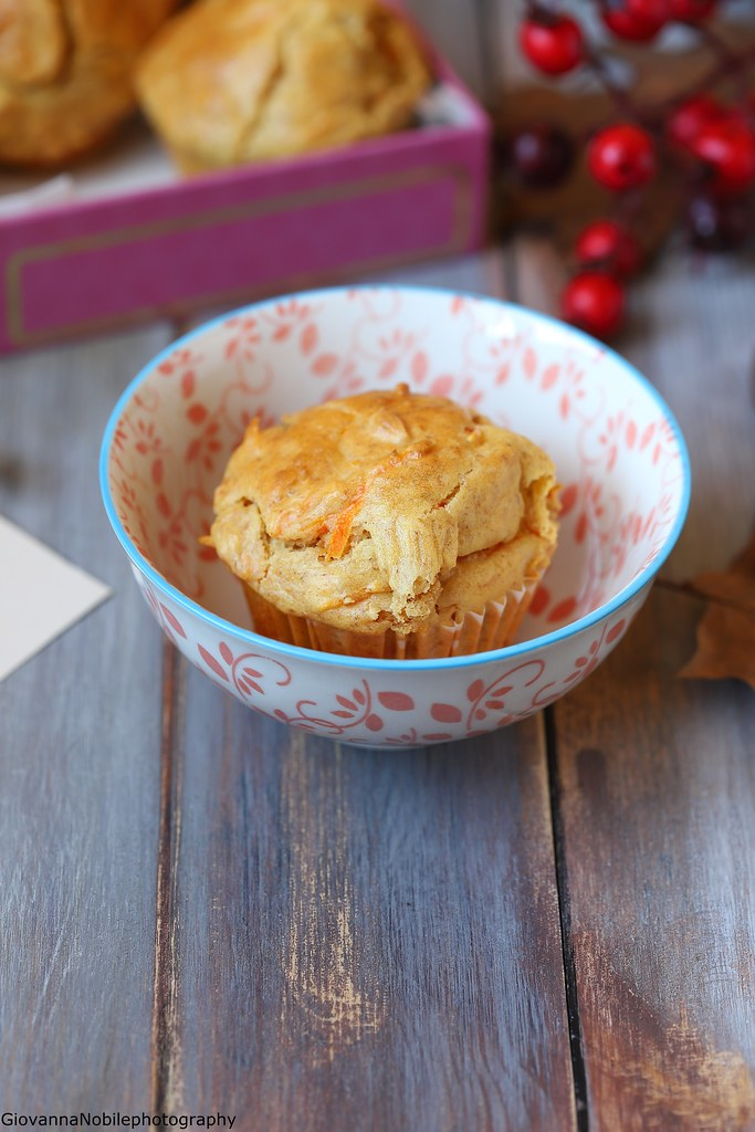 Muffin con carote e mandorle 3