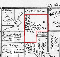 C Casbon land Morgan twp 1895