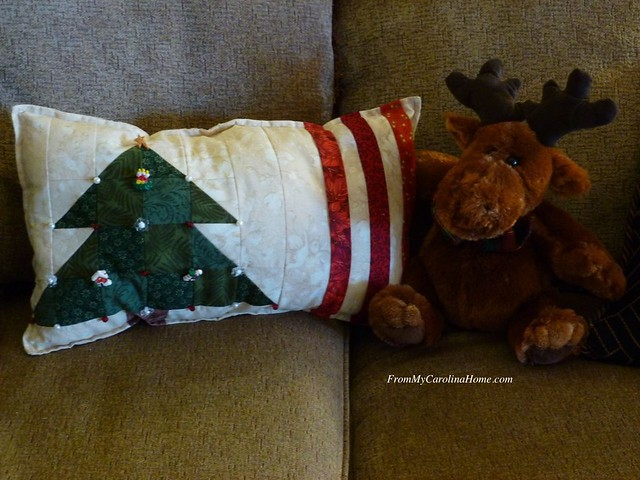 Christmas Pillow at From My Carolina Home