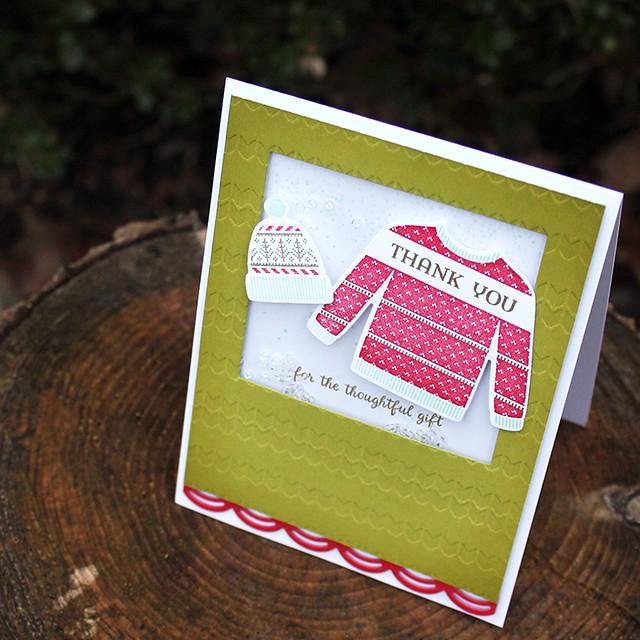 Christmas Thank You Shaker Card 3