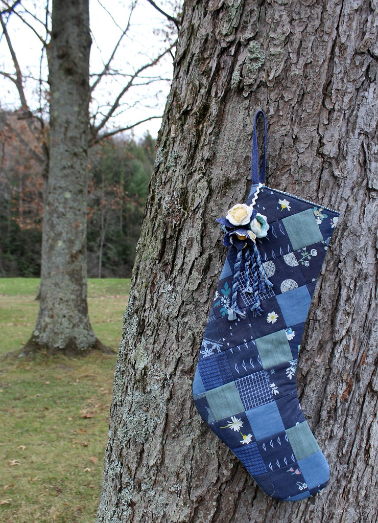 Denim Patchwork Stocking