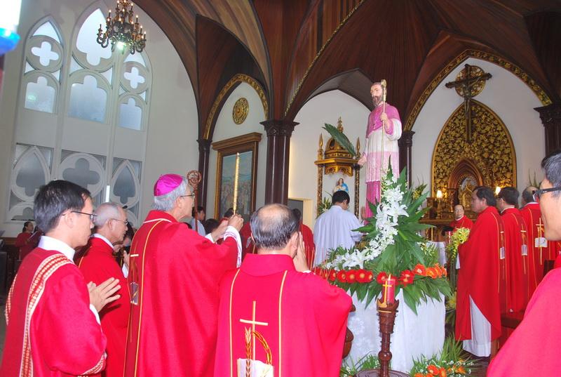 Lễ Thánh Giám mục Stêphanô Thể tại nhà thờ Vĩnh Thạnh