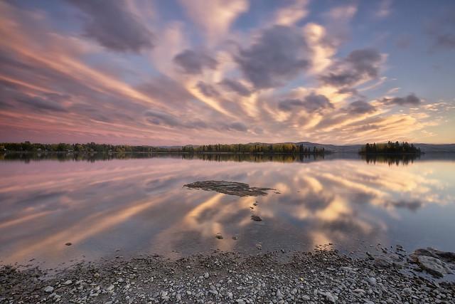 Reflets sur le lac Kénogami