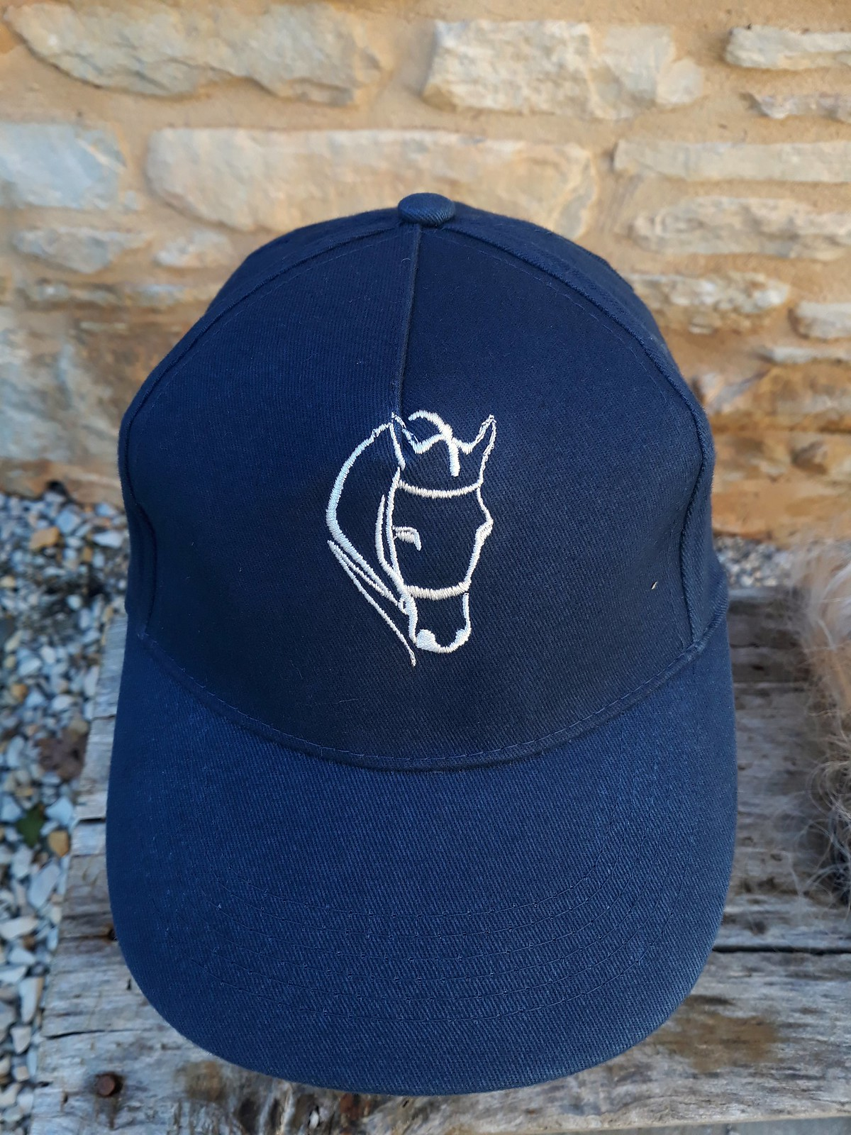 Casquette brodée motif cheval bridon