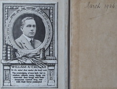 bookmark and signature March 1926