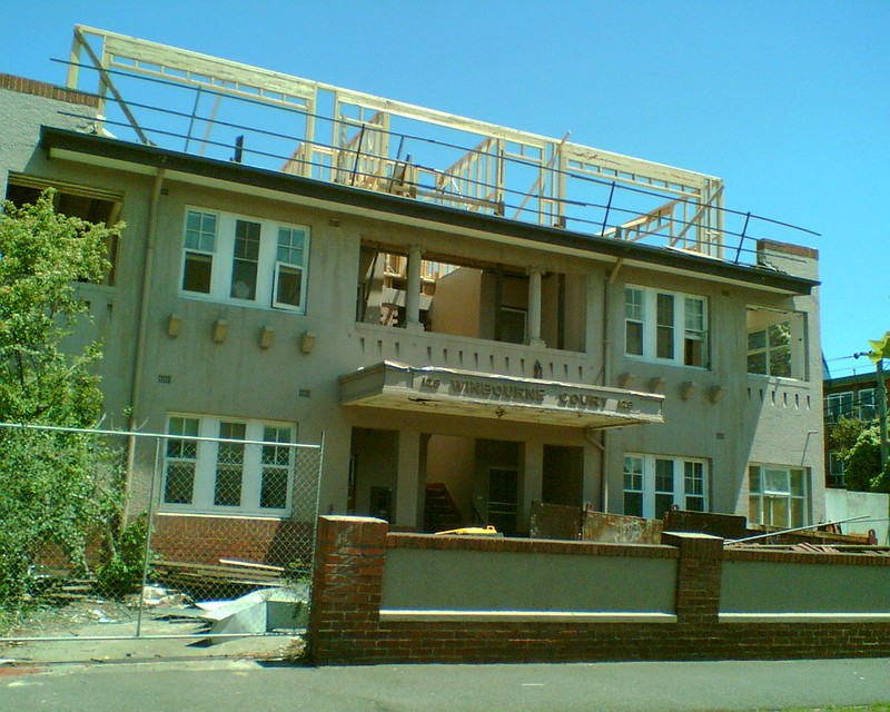 Flats having 3rd level added, Elwood, 2007