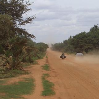 Dusty Road In Cambodia