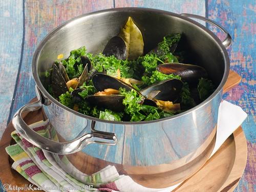 Curry-Muscheln mit Grünkohl (2)