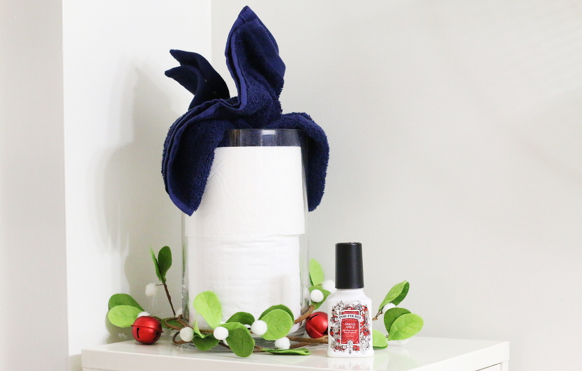 blue-towel-toilet-paper-red-jingle-bells-holiday-decor-4