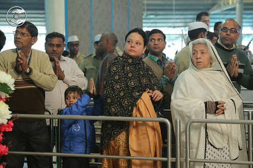 Devotees seeking blessings