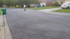 Out for a spin on my new #unicycle.