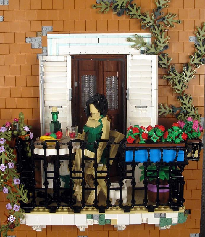 (2) balcony