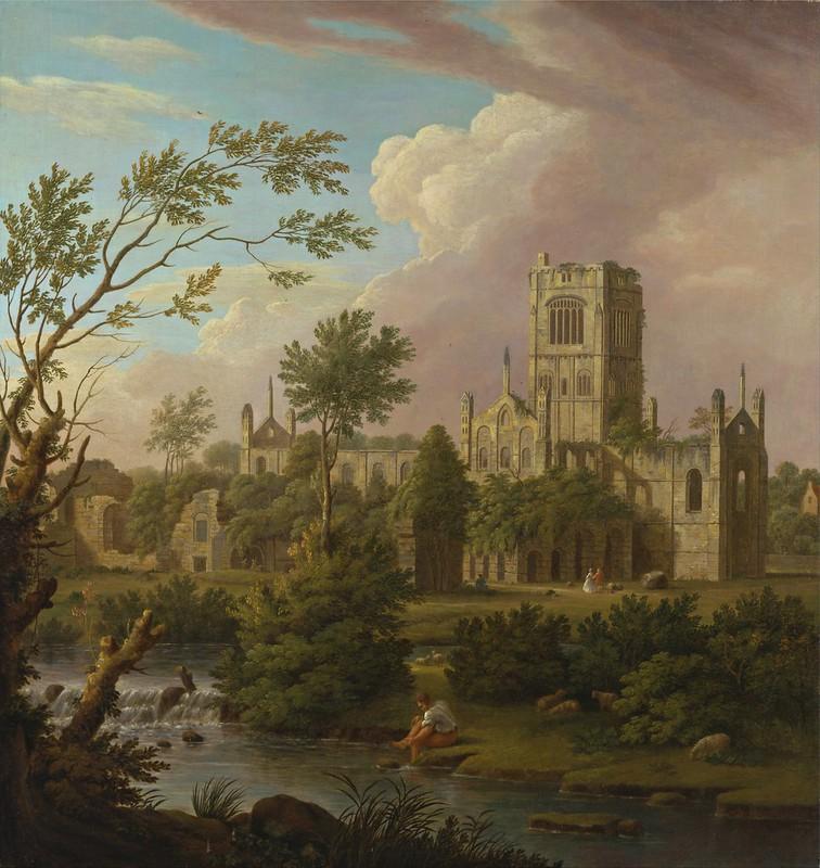 George Lambert - Kirkstall Abbey, Yorkshire (1747)