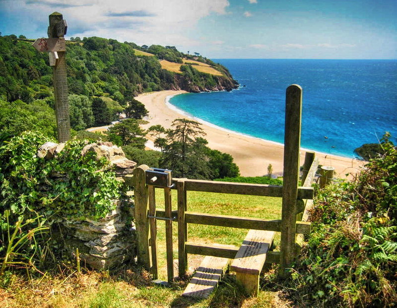 The South West Coast Path above Blackpool Sands. Credit Philip Halling
