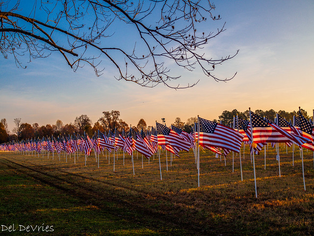 sunrise over Field of Honor
