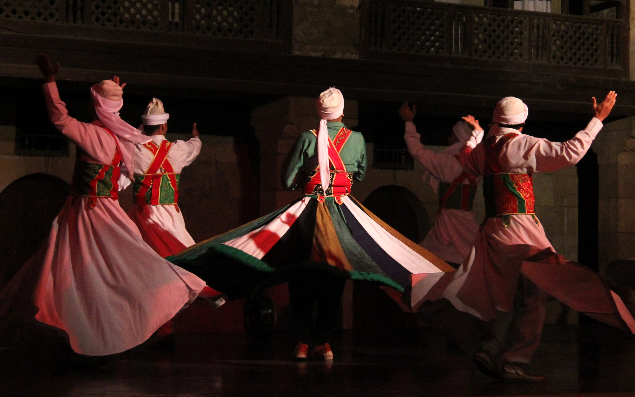 Tanoura whirling was introduced by the Fatimids