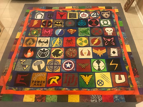 Superheroes Quilt Complete