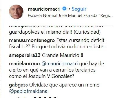 Macri comentarios 4