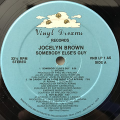 JOCELYN BROWN:SOMEBODY ELSE'S GUY(LABEL SIDE-A)