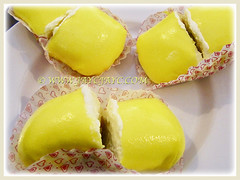 Desserts made from flesh of Durio zibethinus(Durian, Common Durian, Civet Fruit, Durian Kampong in Malay), 11 May 2014
