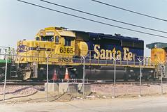 BNSF SD40-2 No. 6865 At Hobart Yard