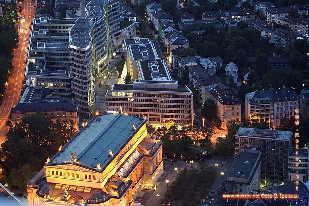 Исторический центр Города Франкфурт на Майне фотографии сделанные днем и вечером