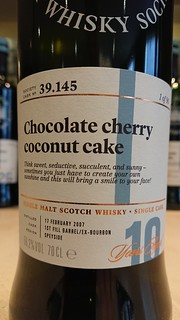 SMWS 39.145 - Chocolate cherry coconut cake