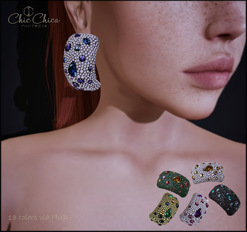 Stina earrings by ChicChica OUT @ Shiny Shabby - TeleportHub.com Live!