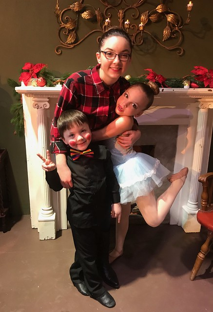Julia, Phoebe, and Jack after dancing in their Christmas show ? ?