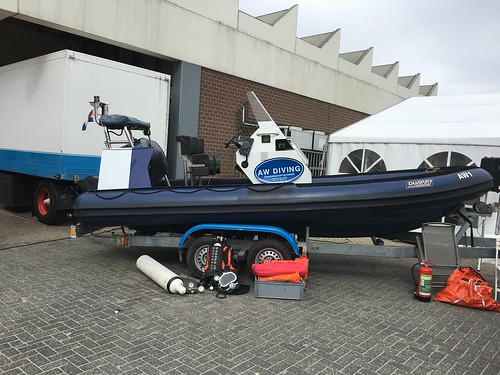 Duikwerkzaamheden uit rubberboot