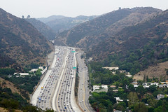 San Diego Freeway (Interstate 405) - view from Getty Center, Brentwood, CA
