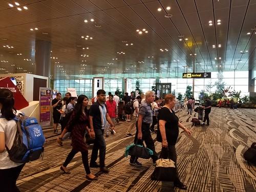 チャンギ空港は広い