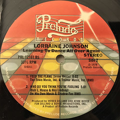 LORRAINE JOHNSON:LEARNING TO DANCE ALL OVER AGAIN(LABEL SIDE-B)